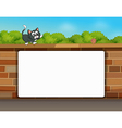 Wall Cat White Frame vector image vector image
