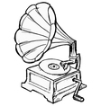 phonograph vector image vector image