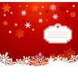 Christmas snowflakes greeting card vector image