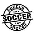 soccer round grunge black stamp vector image