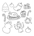 Christmas doodle set vector image vector image