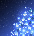 Christmas Background with Stylized Star vector image vector image