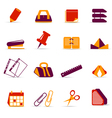 office accessories icons vector image vector image