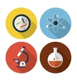 Biology design Lab icon Flat vector image