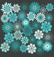 Flower Background Floral Seamless Background vector image vector image