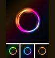 abstract shiny light circles vector image