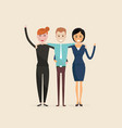 adultmenwomenthree best friendshappy smiling vector image