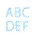 Alphabet of Air Bubbles vector image