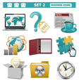 Business Icons Set 2 vector image