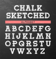 Chalk sketched font vector image