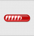 Christmas Loading bar isolated on transparent vector image