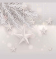 cutout white foil paper stars on light background vector image