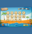 desert island game user interface design for vector image