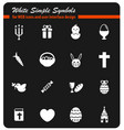 easter day simply icons vector image