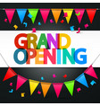 Grand Opening Retro Colorful Title with Colorful vector image