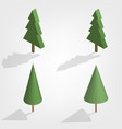 green trees in 3d vector image