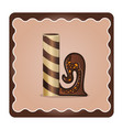 letter l candies chocolate vector image
