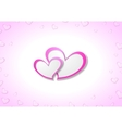 Pink hearts Valentine Day background vector image