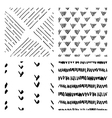 seamless hand drawn ink patterns vector image