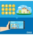 Smart house control concept vector image