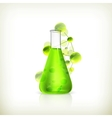 Laboratory flask vector image