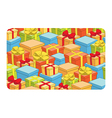 gift card with boxes and bows - background vector image