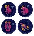 Zodiac Signs Aries Taurus Gemini Cancer vector image vector image