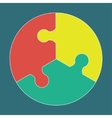 Circular colorful puzzle icon vector image