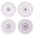 Set of Red Guilloche Rosettes vector image vector image