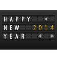 Mechanical timetable happy New Year 2014 card Set vector image