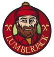 lumberjack label vector image