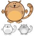 funny cat cartoon vector image vector image