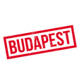 budapest rubber stamp vector image