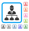 builder management framed icon vector image