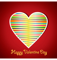 Colorful stripped heart vector image