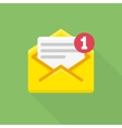 Concept of email notification icon vector image