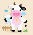 cow cute character cartoon design vector image