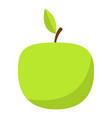 green apple icon flat style vector image
