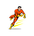 Super Hero Running Retro vector image