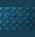 blue background template with circles of vector image