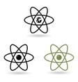 atom model vector image vector image