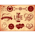 Set of vintage Valentines Day labels vector image
