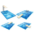 Set of pools vector image vector image