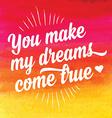 Valentines Day posterTypography Love quote vector image