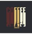 coffee label design background vector image