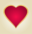 Gold frame in the shape of heart vintage vector image
