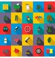 Paintball icons set flat style vector image