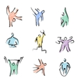 color fitness icons vector image
