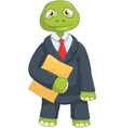 Funny Turtle Businessman vector image