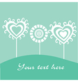 Greeting card spring theme vector image